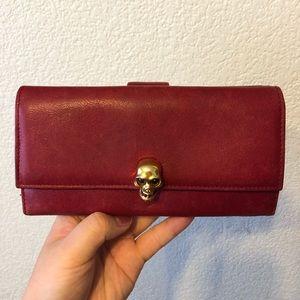 ❗️SOLD❗️AlexsanderMcQueen skull red leather wallet